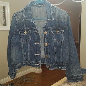 American Eagle women's large cropped denim jacket